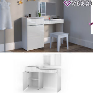 vicco schminktisch little lilli wei hochglanz frisiertisch kommode spiegel ebay. Black Bedroom Furniture Sets. Home Design Ideas