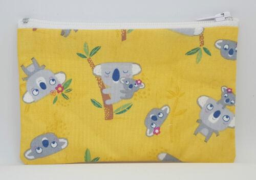 Cute Koala Bears Fabric Handmade Zippy Coin Purse Storage Pouch