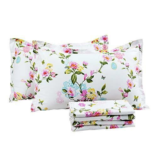 ❤ Bed Sheet Fadfay Elegant & Shabby Set Floral & colorful Butterfly Printed 100%