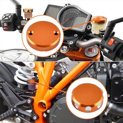 KTM 1290 SUPERDUKE R REAR BRAKE MASTER CYLINDER SCREW TOP LID CAP ORANGE B12B