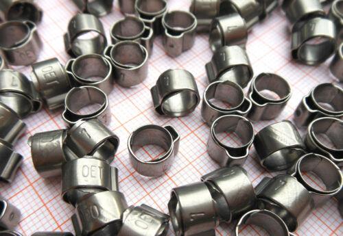 10 unidades Würth 1-ohr - term 7 mm, con anillo depósito, acero inoxidable a2, Art. 0541 070