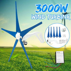 3000W-12-24-48V-3-5-Blades-Wind-Turbines-Generator-Horizontal-Charge-Controller