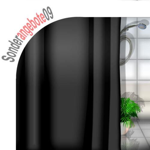 DEKO Duschvorhang ca 180x180 cm INCL 12 Duschringe UNI schwarz 1,80m x 1,80m