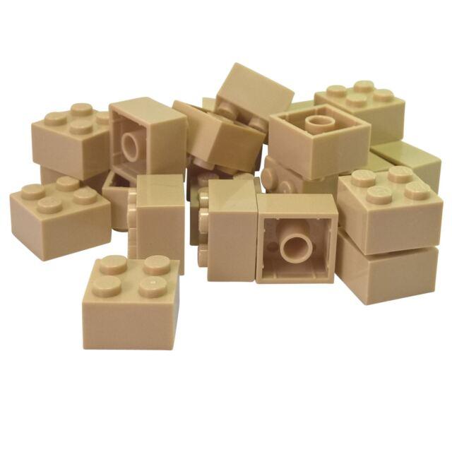 Lego Lot Of 50 Dark Brown Brick 1 x 2