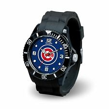 Chicago Cubs MLB Baseball Team Men's Black Sparo Spirit Watch