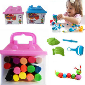 2-Play-Dough-Doh-Set-Clay-Mud-Moulding-Craft-Kids-Activity-Shape-Toy-Fun-Gift