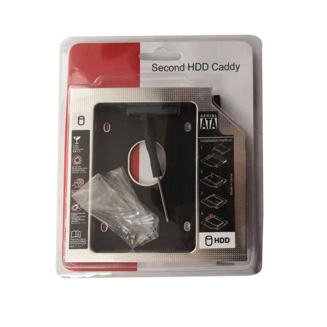 12.7mm SATA 2nd HDD SSD Hard Drive Caddy Universal for CD/DVD-ROM Optical Bay AU