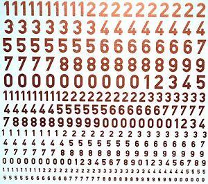 Chiffres Or Numbers Or 1:87 + 1:43 + 1:32 Décalque Décalcomanies-afficher Le Titre D'origine Lustre Brillant