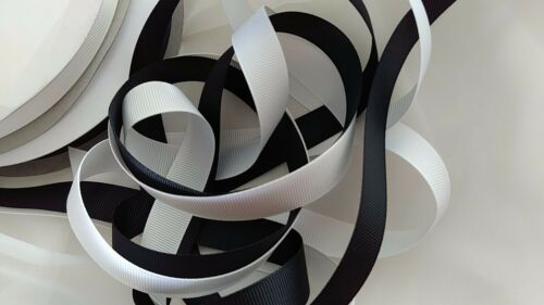 Grosgrain ribbon 5/8 wide by sections of 4 yards , black or white