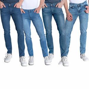 Heredot Herren Jeans Hose 5-Pocket Slim-Fit mit Elasthananteil Used-Waschung