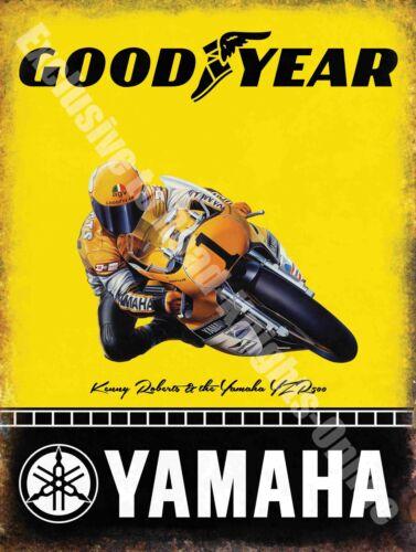 57 Tyre Yamaha Goodyear Racing Motorcyle Large Metal Tin Sign Vintage Garage