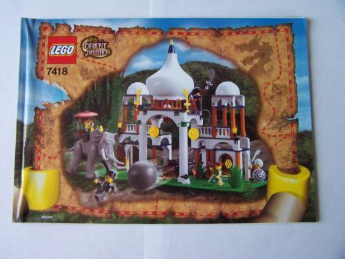 LEGO ® de recette//INSTRUCTION Nº 7418