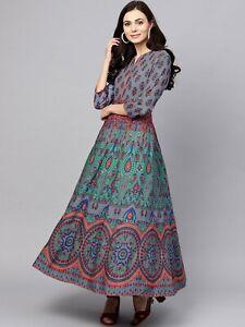 Indian Women Kurta Kurti Bollywood Designer Pakistani Long Tunic Top Dress New S