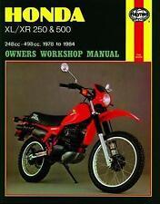 Haynes Honda XL/XR: 250, 500cc 78-84 Repair Manual - 567