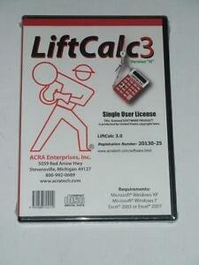Details about $95 LiftCalc 3 0 RIGGING CALCULATOR Multimedia CD Single User  License NEW Sealed