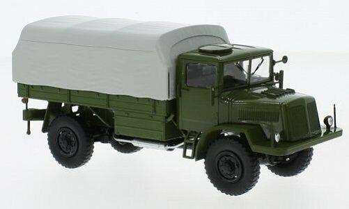 PREMIUM CLASSIXXS Tatra 128N Olivee grigio Flatbed Platfor  1 43 47077