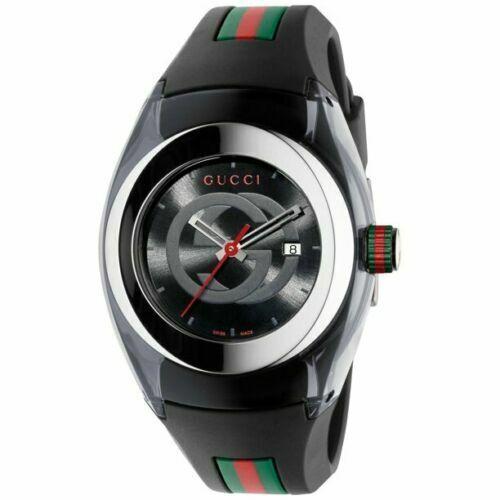 .Brand New Gucci Sync XXL Watch BLACK YA137101.
