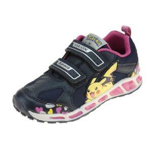 geox sandals, geox Girl Trainers J SHUTTLE BOY NAVY SILVER