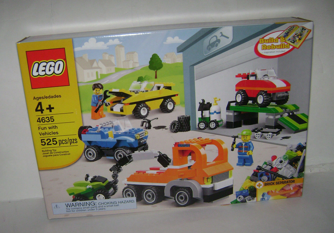 NEW 4635 Lego CREATOR Fun with Vehicles Building Toy SEALED BOX RETIrosso A