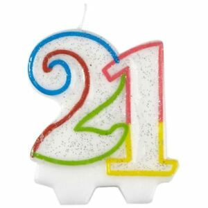 Image Is Loading Milestone 21 Birthday Candle 21st Cake Decoration Topper