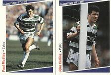 16 x CELTIC SHOOTING STARS Cards by MERLIN Publishing Ltd 1991/2 FOOTBALL CARDS