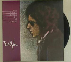 BOB DYLAN SIGNED AUTOGRAPH ALBUM VINYL RECORD BLOOD ON THE TRACKS  J. ROSEN REAL