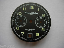 Dial cadran noir montre chrono chronographe Péchoin 31,8 mm VALJOUX 234 Type 22