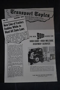 Details about 1955 OFFICIAL WHITE TRUCK 'NEW' 9000 White Diesel Tractor  Advertising