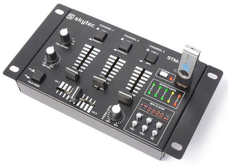 TABLE DE MIXAGE MIXER DJ USB 6 CANAUX AVEC USB MP3 2xPHONO 3xLIGNE 1xMP3