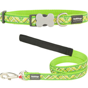 Red-Dingo-Collar-Lead-Dog-Puppy-Sizes-XS-Small-Med-LG