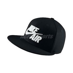 Nike Air True Black White Mens Big Logo Swoosh Snapback Hat Cap 805063 010 886549120733 Ebay