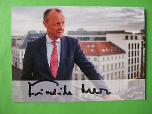 Autogrammkarte - Friedrich Merz - CDU - orig. autogr.