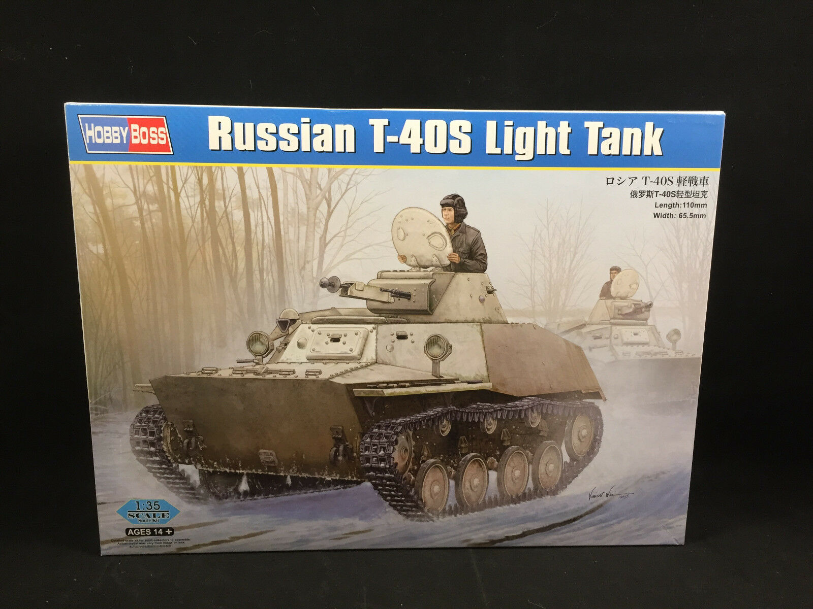 Light T-40S Russian Boss Hobby Tank 1 NIB 83826 Kit Model