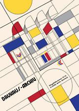 T285 Art Print Bauhaus Ausstellung 1923 Weimer Exhibition Custom Poster