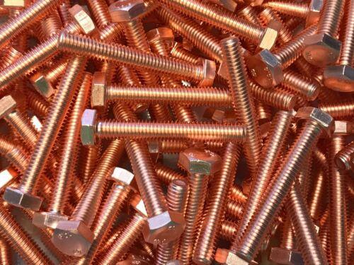 1 Stück Sechskant Kupferschraube M6x40 10.9 hochfest stark verkupfert