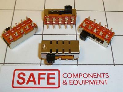 PIC Side Slide Power Switch 4 Pos WK-14H01 1P4T Sldr Mnt QTY-1 On-On-On-On C23