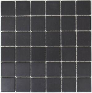 Détails sur Mosaïque carreau céramique noir non vitré cuisine sol  14B-0303-R10_f |10 plaques