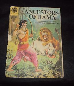 C1980'S OLD AMAR CHITRA KATHA COMIC OF ANCESTORS OF RAMA RARE