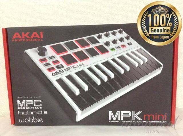 Akai Professional USB MIDI keyboard 8 pad MPK mini MK2 WHITE Limited F/S