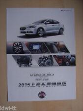 GAC Fiat Viaggio Prospekt / Brochure / Depliant, China, 2015