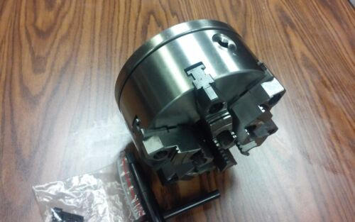 "L0 adapter back plate 8/"" 6-JAW SELF-CENTERING  LATHE CHUCK w top/&bottom jaws"