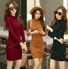 New Womens Winter Long Sleeve Slim Sweater Jumper Knit Ladies Bodycon Mini Dress