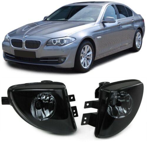 Klarglas Nebelscheinwerfer schwarz smoke für BMW 5er F07 F10 F11 10-13