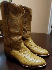 Lucchese Men Exotic Full Quill Ostrich