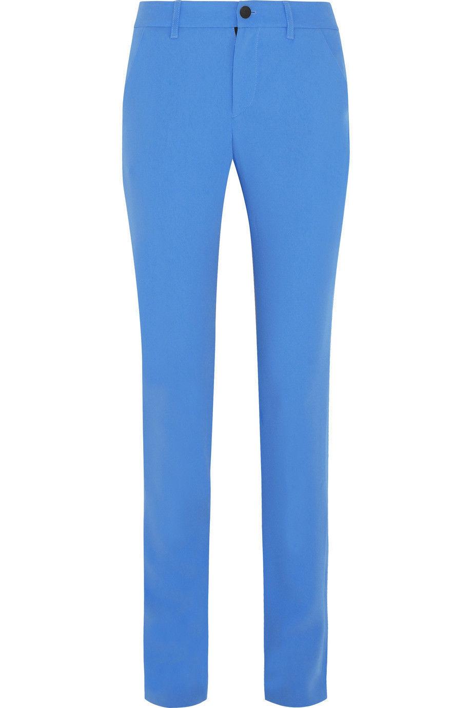 Rag & Bone Eloise Azure bluee satin-crepe slim-leg Pants Size 2 NEW