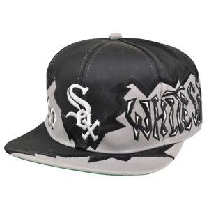 MLB Chicago White Sox Vintage Old School Snapback Flat Bill Hat Cap ... 422ccc85f2a