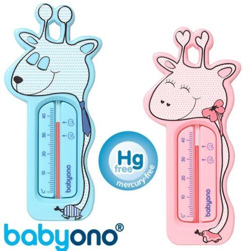 Termometro da bagno Baby Giraffe Galleggianti Rosa Blu-Carina sicurezza Babyono NUOVO