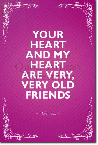 """Cartel De Hafiz /""""tu corazón y mi corazón../"""" motivación presupuesto impresión de arte"""
