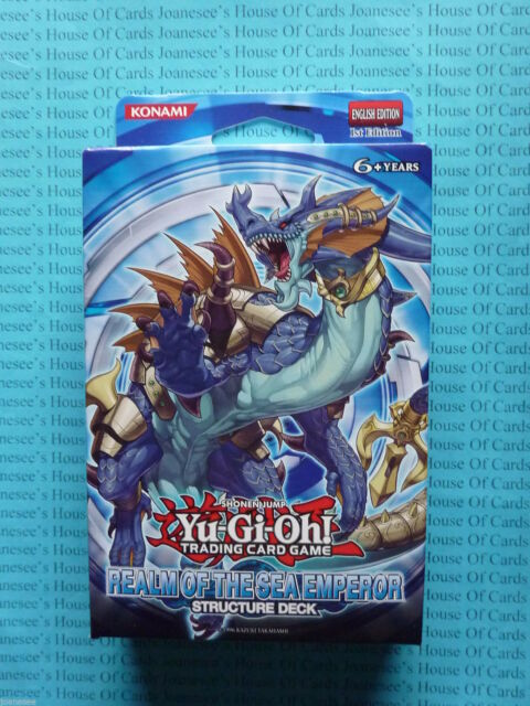Yu-gi-oh Realm Of The Sea Emperor Structure Deck ENG 1st Edit NEW BNIB ON SALE