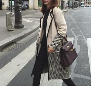 Womens Lapel lana in sciolto Casual Fashion D886 Coat Knitted Maglione Cardigan misto qfqxTwr